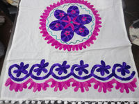 Handmade suzani embroidered wall hanging table runner tapestry