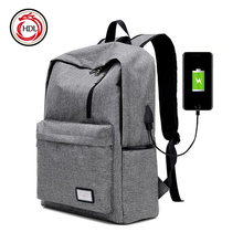 China Suppliers Wholesale Mens Nylon Casual USB Backpack Brands With Usb For Men