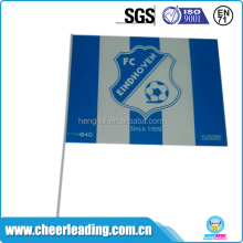 Custom made cheap promotional pe hand flag