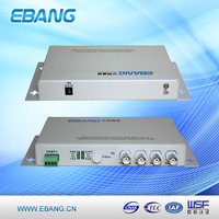 OEM service 4 channel video over fiber multiplexer, video switcher mixer, video multiplexer