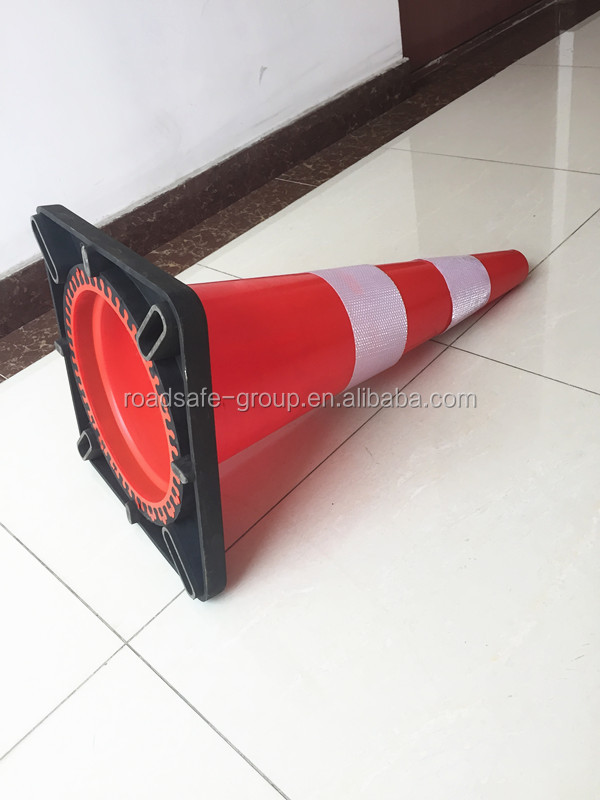 70cm height flexible safety cones PVC traffic cone