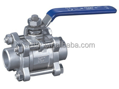 stainless 316/ 304 3 pieces ball valve