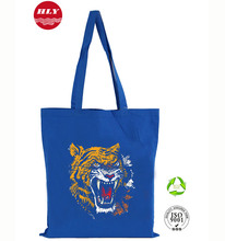 Promotional Resuable Shopping Color Dyed 140g Blue Cotton Wholesale Bags