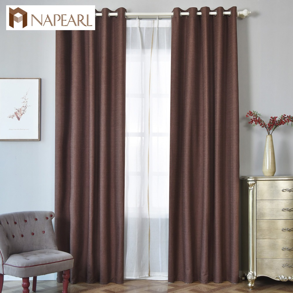 NAPEARL ready made hotel insulated blackout curtains window coverings