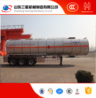 36000 liters tri-axle fuel Elliptical Tanker Trailer