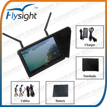 D894 Flysight 7 Inch 5.8GHz LCD Wireless FPV Ground Station Monitor for DJI F550 Hexacopter Aerial Photography