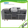 2016 lastest cheap NEW DESIGN DX5 UV Flatbed a2 size WER-EH4880UV digital printer with ball screw and RIP software