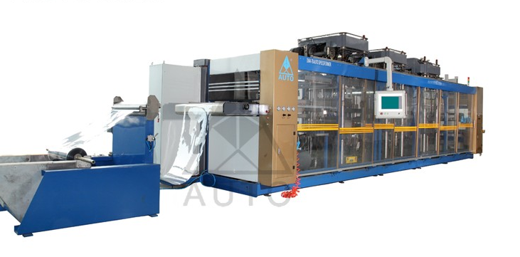 DW4-78 fast food container PP,PS,PET,PVC plastic pressure and vacuum forming machine