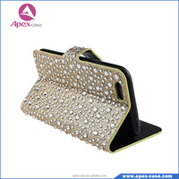 Bling Bling diamond-studded 5.5 inch wallet mobile phone case