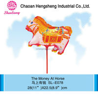 Advertising party kids inflatable horse toy