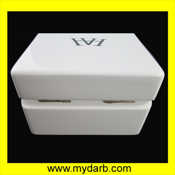 Factory Wholesale Wooden Watch Box painted glossy White