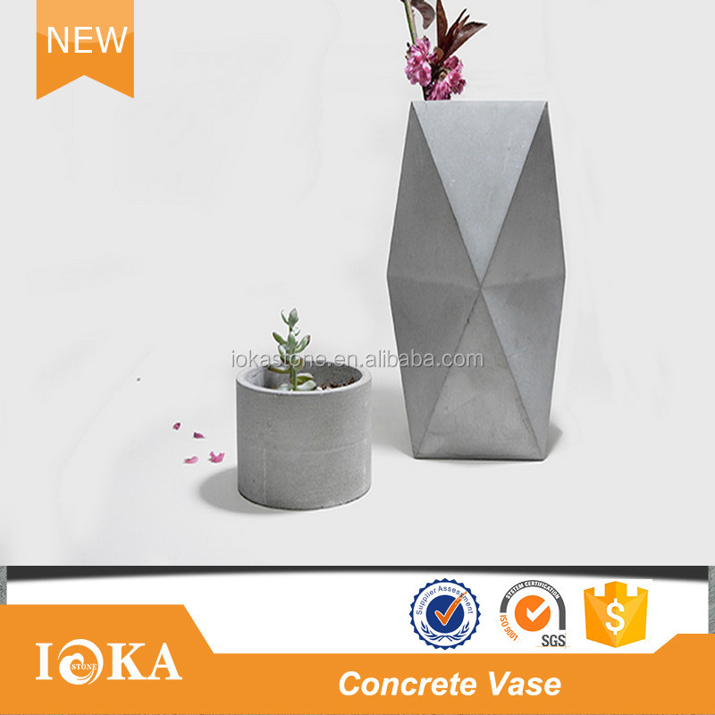 Mini Concrete Planter Geometric Concrete Vase