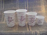 paper cup cover/flower shaped tea cup/double wall paper coffee cups