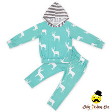 Kids Beer Printed Long Sleeve Hood Top Matching Pants Two Piece Tracksuit Baby Girl Boutique Outfit Clothing Set