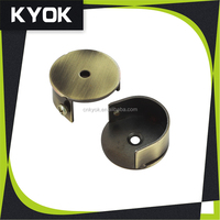 Factory directly sell metal curtain accessories, Wall bracket aluminum curtain rod end caps, curtain pole connect pipe