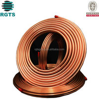Red copper pipe used in air conditioner and refrigerator LWC copper pipe coil