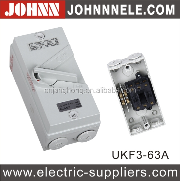 UKF Series Grey IP56 Weather Protected Switch