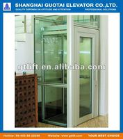 Hydraulic glass home elevator