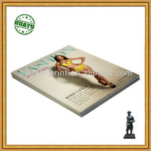 Full color art paper body lines catalogue printing
