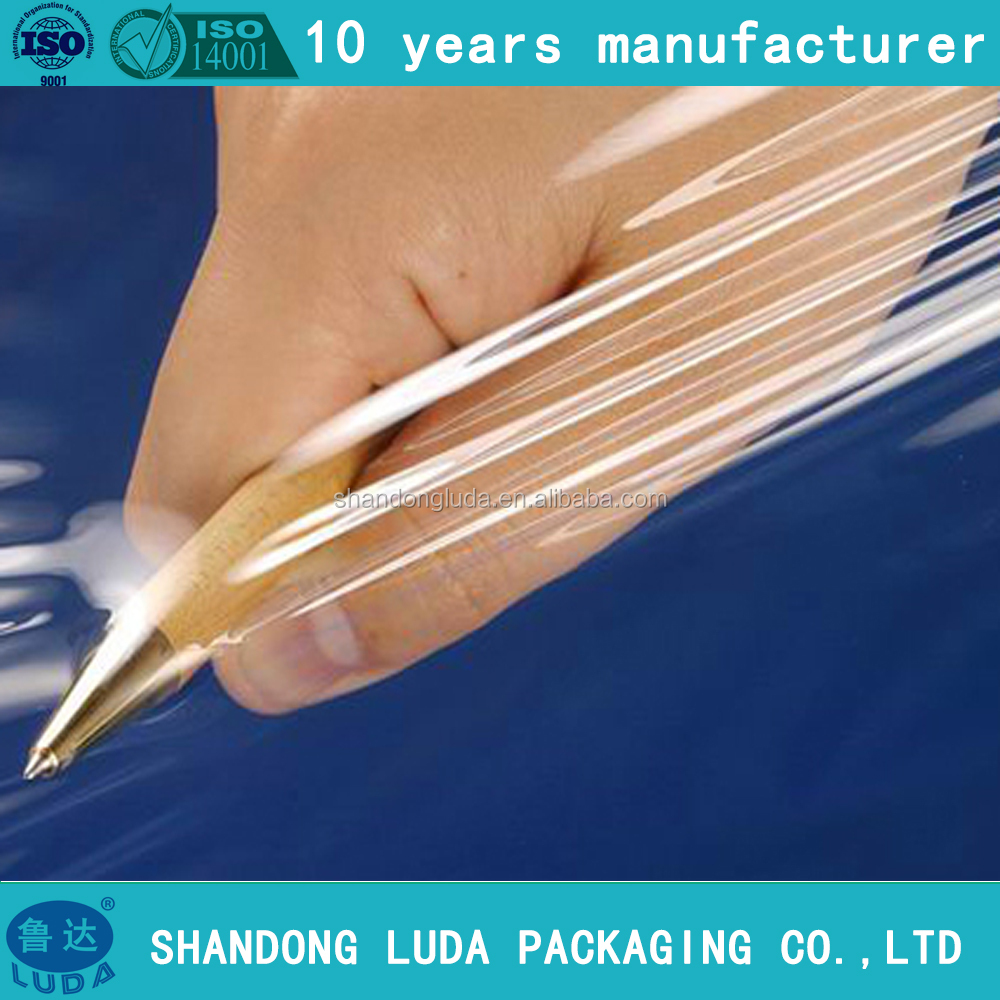 Strong tensile blown cling wrap film/plastic wrapping film