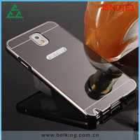 Newly Mirror Cover Hybrid Metal Bumper Case For Samsung Note 3, For Galaxy Note 3 Aluminum Ultrathin Case