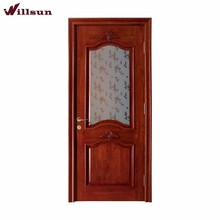 Embossed crisp styling decorative interior door glass inset with bamboo leaves pattern