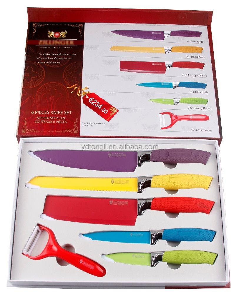 tlzl 789 6pcs sell non stick kitchen knife set buy knife set