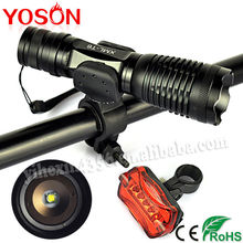 Hotsale Cree XM-L T6 Battery Power Zoom Waterproof Small Bike Light