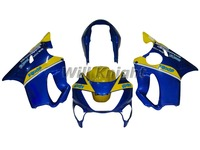 Blue Yellow Injection Mold Body Fairing Kit for Honda CBR600 F4 1999 2000