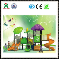Guangzhou china outdoor playground pre school small/playground equipment swing/hard plastic tunnel QX-B0071