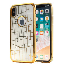 New Arrival TPU electroplating phone case for iphone X chrome clear case i Phone 10