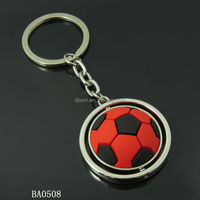 For 2014 Brazil Football World Cup red and black football keychain