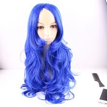 Fashion New Trend Cheap Blue Ombre Wigs Colored Body Wave Wavy Wigs Synthetic Wigs