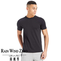 New arrival high neckline short sleeve pure black t-shirts gym dry fit for strong men