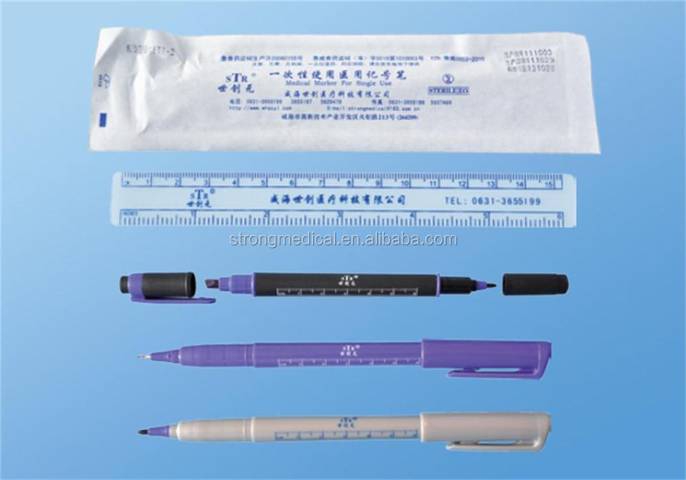 washable twin marker pen safe skin marker,surgical marker, fine tip 1mm,0.5mm