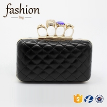 CR Swift delivery quilted pu griddings surface skull handle rhinestones inlaid black new top sales women leather handbag