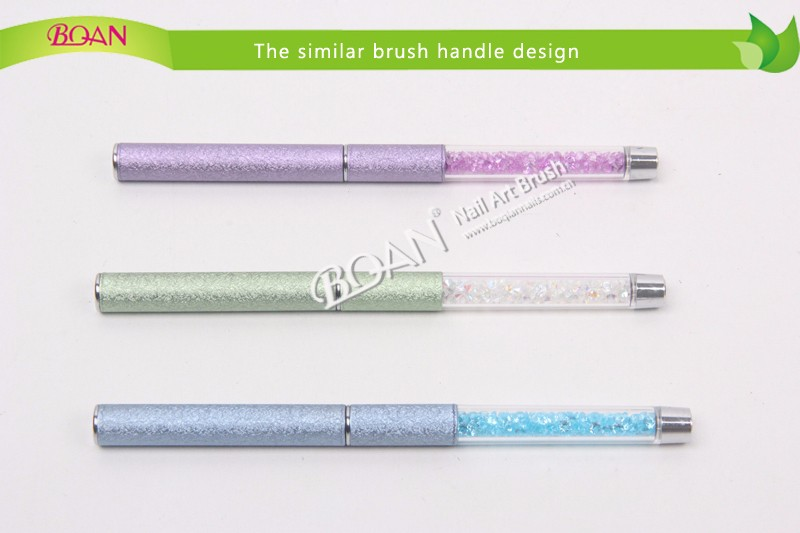 Beauty Light Blue Metal Handle with Blue Pearl Acrylic Kolinsky Brush Sable Nail Polish Brush