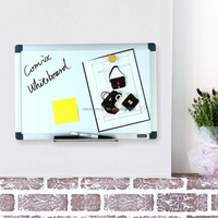 magnetic dry-erase whiteboard, 90*180 cm.