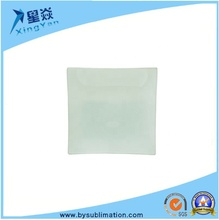 Factory Supply 8 Inch Sublimation Blank Square Glass <strong>Plate</strong>