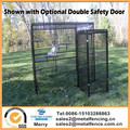 7' tall fully enclosed 6'x8' welded wire cage with double safety door aviary