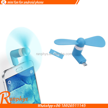Ranphys Mini Fan Qt micro fan Portable fan USB Pocket, Handheld Travel Blower Air Cooler, mini USB fan for android phone