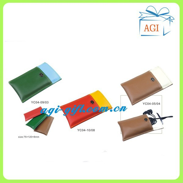 new design leather mobile case mobile holder