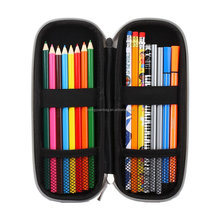 Hard Eva Carrying Storage Case/Bag/Pouch/Holder for Pencils,Stylus pens,Ball Pens,Executive Fountain Pens-Black/White
