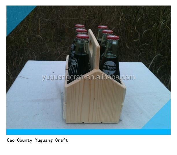 unbehandeltes holz bierflasche kiste caddy tote volkst mliche kunsthandwerk produkt id. Black Bedroom Furniture Sets. Home Design Ideas