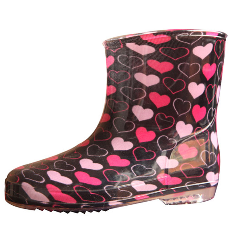 Newest comfortable PVC waterproof children safety rain boots