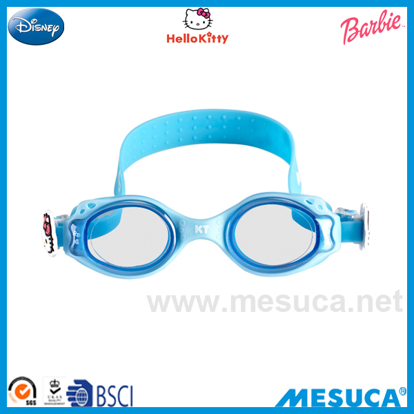 2015 New Product China Blue/Pink Hello Kitty Swimming Silicone PVC Goggle Promotion HE1003-KC