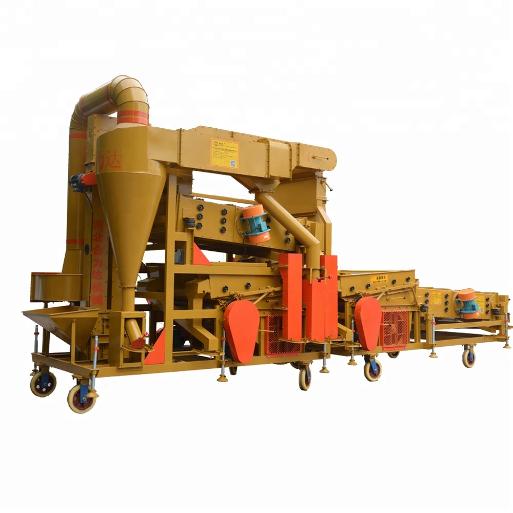 15 ton per hr wheat grain cleaning equipment with gravity and grader