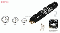 Universal Security pad lock with key ,iron chain lock