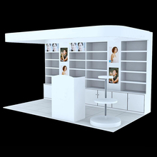 store counter wooden cosmetic exhibition stand