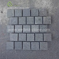 Flamed Black Basalt Cobblestone Paver On